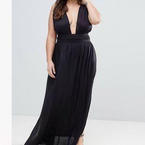 Casual plunging neckline beach dress